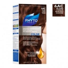 PHYTO Phytocolor coloration permanente 6AC blond foncé acajou cuivre prix maroc