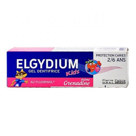 Elgydium Kids dentifrice Protection caries 2-6 ans Arome Grenadine prix maroc