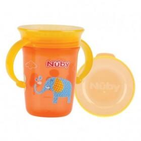 Nuby goblet de 240 ml  imprimé avec  couvercle prix maroc