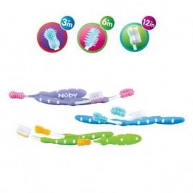 Nuby Set de brosses à dents 3 pièces – 3m+ parapharmacie en ligne maroc