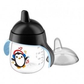 AVENT Tasse pingouin avec anses noir anti-derapante 260 ML paraphramcie casablanca