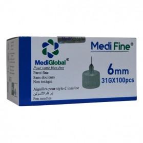 MEDIGLOBAL MEDI FINE 6 MM 31 G 100 PCS PRIX MAROC