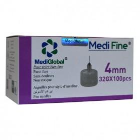 MEDIGLOBAL MEDI FINE 4 MM 32 G  100 PCS PRIX MAROC